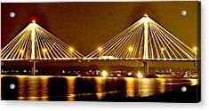 Golden Bridge Acrylic Print by Marty Koch