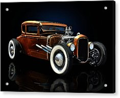 Golden Brown Hot Rod Acrylic Print
