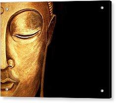 Golden Buddah Acrylic Print
