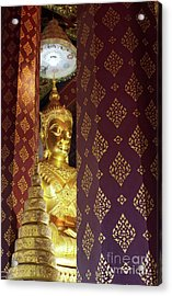 Golden Buddha Acrylic Print by Buchachon Petthanya