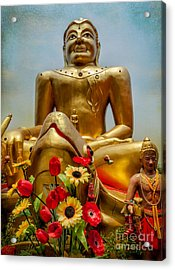Flowers For Buddha  Acrylic Print by Adrian Evans