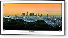 Golden California Sunrise Poster Print Acrylic Print by Az Jackson