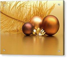 Golden Christmas Acrylic Print by Wim Lanclus