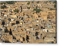 Acrylic Print featuring the photograph Golden City Jaisalmer by Yew Kwang