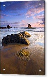 Golden Coast Acrylic Print by Mike  Dawson