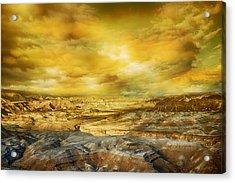 Golden Colors Of Desert Acrylic Print