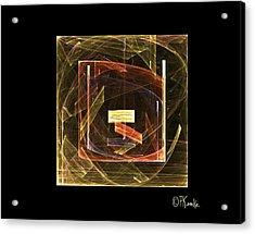 Golden Cube Acrylic Print