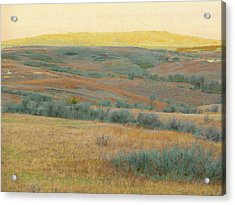 Golden Dakota Horizon Dream Acrylic Print