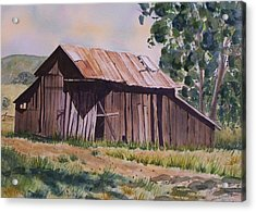 Golden Eagle Ranch Barn Acrylic Print