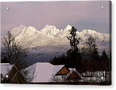 Acrylic Print featuring the photograph Golden Ears Mountain View by Sharon Talson