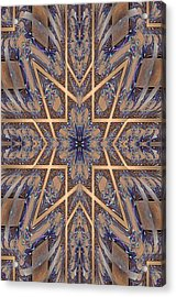 Golden Easter Cross Acrylic Print by Ricky Kendall