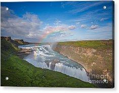 Golden Falls, Gullfoss Iceland Acrylic Print