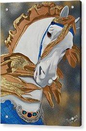 Golden Fantasy Acrylic Print