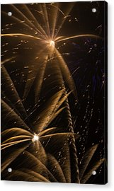 Golden Fireworks Acrylic Print by Garry Gay
