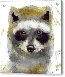Golden Forest Raccoon  Acrylic Print
