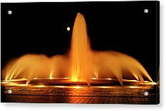 Golden Fountain Acrylic Print