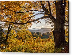 Vermont Framed In Gold Acrylic Print