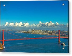 Golden Gate And The City Acrylic Print