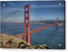 Golden Gate Acrylic Print by Andreas Freund