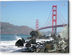 Golden Gate Beach Acrylic Print