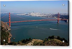 Golden Gate Bidge And Bay Acrylic Print by Luiz Felipe Castro