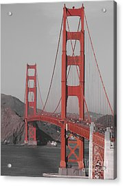Golden Gate Black And White Acrylic Print by Jeff White