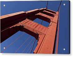 Golden Gate Bridge At An Angle Acrylic Print by Garry Gay