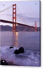Golden Gate Bridge At Dusk Acrylic Print by Mathew Lodge