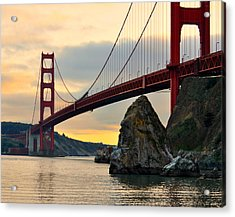 Golden Gate Bridge At Sunset Acrylic Print by Pamela Rose Hawken