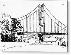 Golden Gate Bridge Black-n-white Acrylic Print
