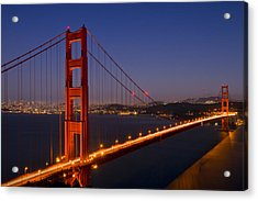 Golden Gate Bridge At Night Acrylic Print