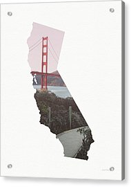 Acrylic Print featuring the mixed media Golden Gate Bridge California- Art By Linda Woods by Linda Woods