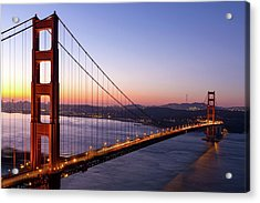 Golden Gate Bridge During Sunrise Acrylic Print