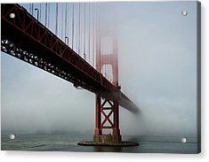 Acrylic Print featuring the photograph Golden Gate Bridge Fog 2 by Stephen Holst