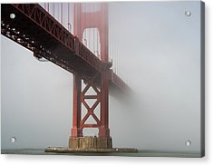 Acrylic Print featuring the photograph Golden Gate Bridge Fog - Color by Stephen Holst