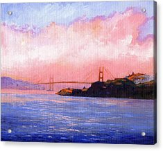 Golden Gate Bridge Acrylic Print by Frank Wilson