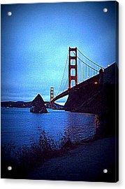 Golden Gate Bridge From Cavallo Point - Fort Baker - Sausalito, California - Below Vista Point Photo Acrylic Print