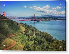 Golden Gate Bridge From The  Marin Headlands Acrylic Print
