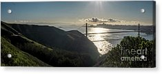 Golden Gate Bridge From The Road Up The Mountain Acrylic Print