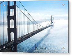 Golden Gate Bridge Acrylic Print by Happy Home Artistry