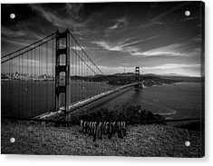 Golden Gate Bridge Locks Of Love Acrylic Print