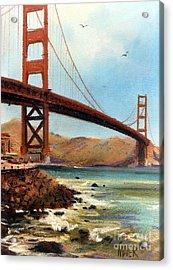 Golden Gate Bridge Looking North Acrylic Print