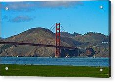 Golden Gate Bridge Acrylic Print by Miranda Strapason