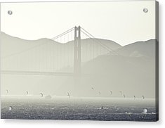 Golden Gate Bridge Acrylic Print by Paul Plaine