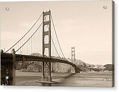 Golden Gate Bridge San Francisco - A Thirty-five Million Dollar Steel Harp Acrylic Print