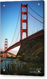 Golden Gate Bridge Sausalito Acrylic Print by Doug Sturgess