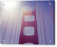 Golden Gate Bridge The Iconic Landmark Of San Francisco Acrylic Print by Jingjits Photography