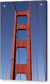 Golden Gate Bridge Tower Acrylic Print by Garry Gay