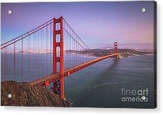 Golden Gate Bridge Twilight Acrylic Print by JR Photography