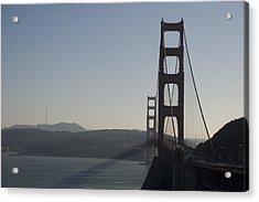 Golden Gate Bridge Acrylic Print by Wes Shinn